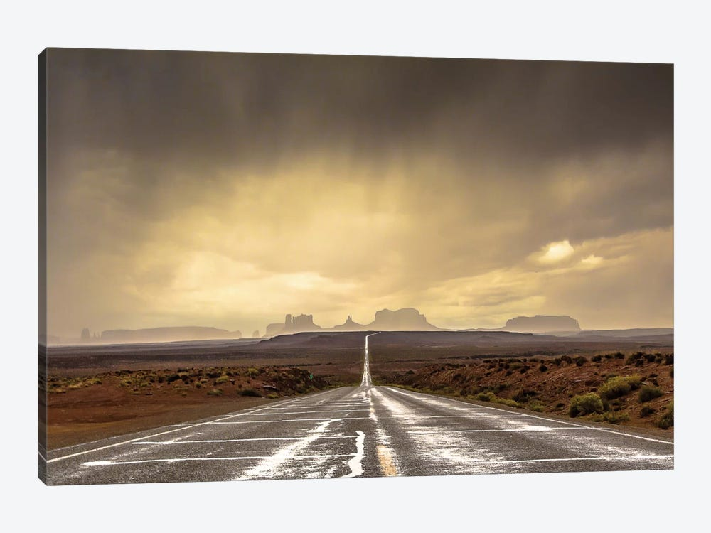 Storm In Monument Valley 1-piece Canvas Artwork