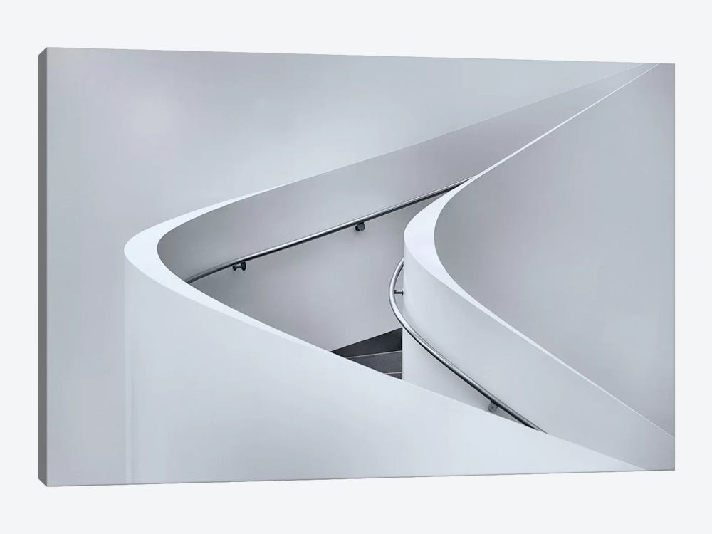 The Curved Stairs by Jeroen van de Wiel 1-piece Canvas Wall Art