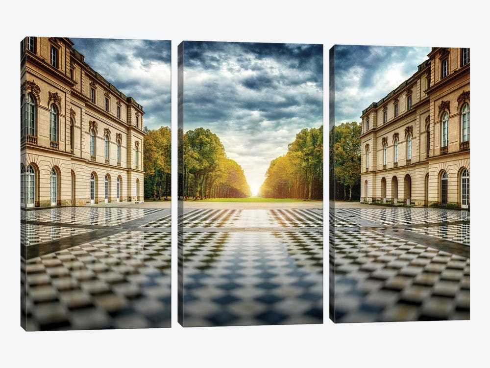Herrenchiemsee Palace by Juan Pablo de Miguel 3-piece Canvas Wall Art