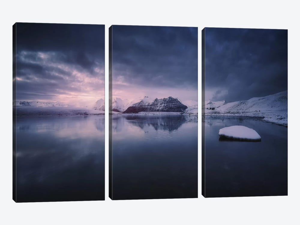 Quiet Frost Light II 3-piece Canvas Art