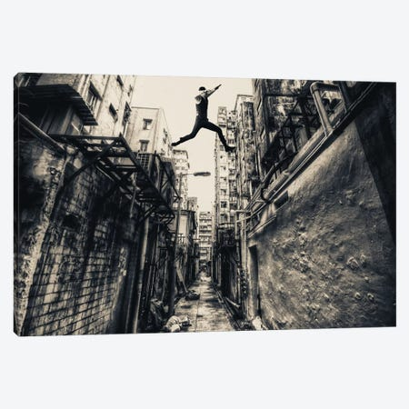 Behind Street Canvas Print #OXM1635} by Junites Uno Canvas Art