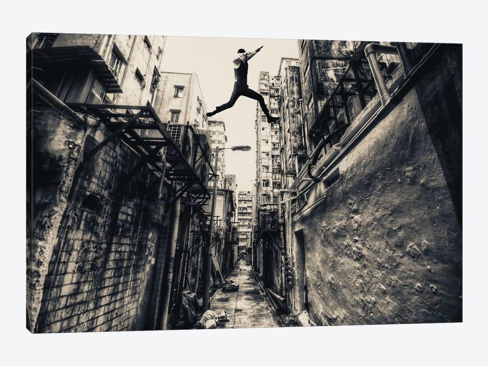 Behind Street by Junites Uno 1-piece Canvas Art Print