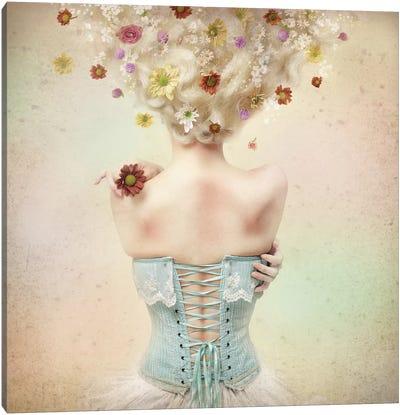 Girl Of The Flower Garden I Canvas Art Print
