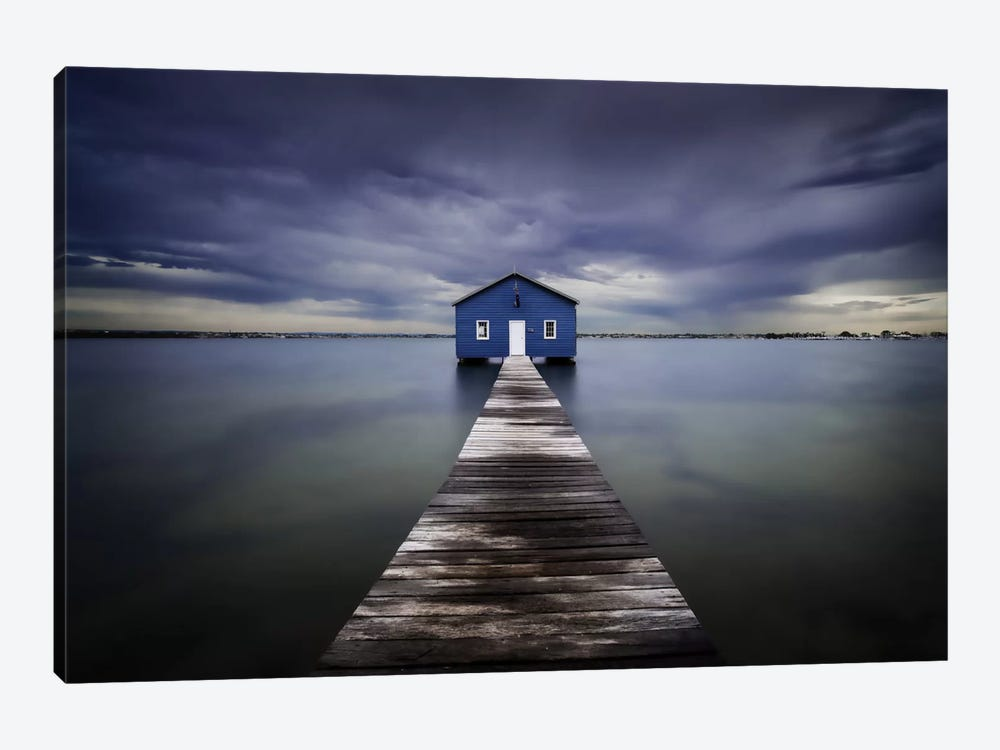 The Blue Boatshed by Leah Kennedy 1-piece Canvas Art