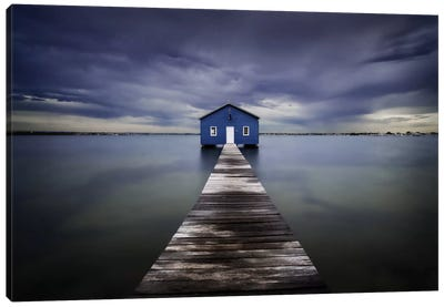 The Blue Boatshed Canvas Art Print