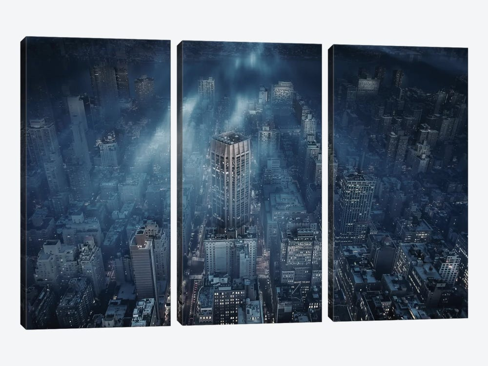 NYC by Leif Løndal 3-piece Canvas Print