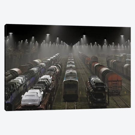Trainsets Canvas Print #OXM1686} by Leif Londal Art Print