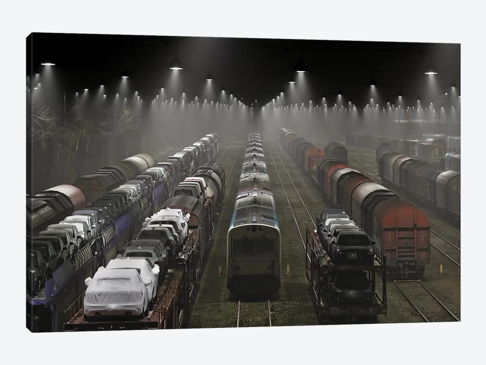 Trainsets by Leif Løndal 1-piece Canvas Print