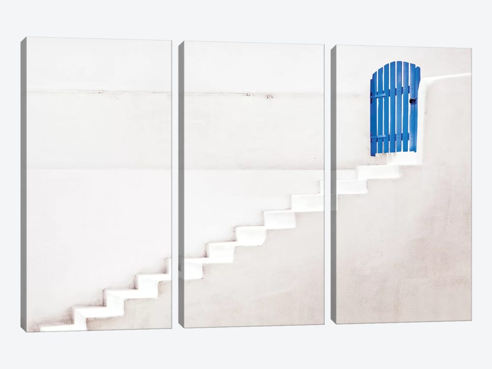 The Blue Gate by Linda Wride 3-piece Canvas Art Print