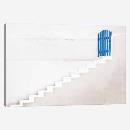 The Blue Gate 3-Piece Canvas #OXM1701} by Linda Wride Canvas Art Print