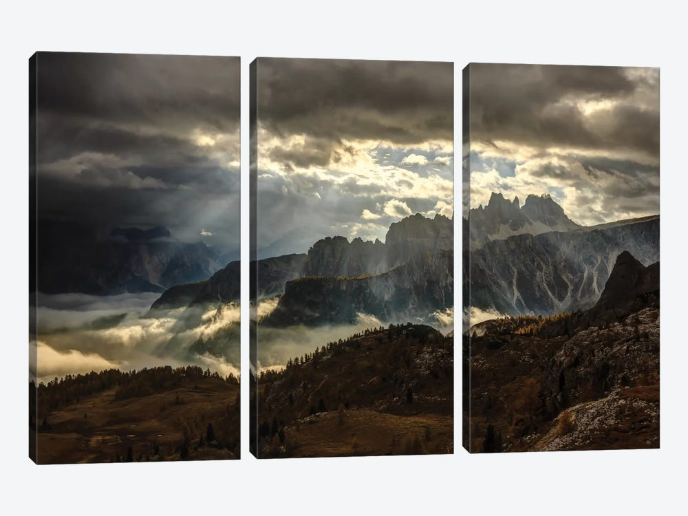 Light Theatre by Lubos Balazovic 3-piece Canvas Art