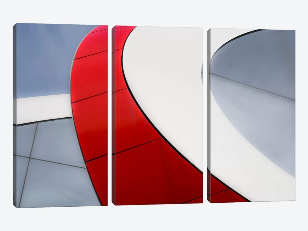 Red Bow by Luc Vangindertael 3-piece Canvas Artwork