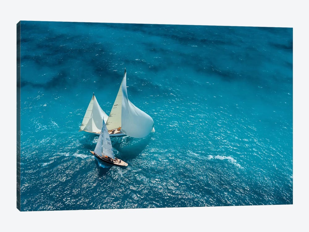 Croisement Bleu by Marc Pelissier 1-piece Canvas Print