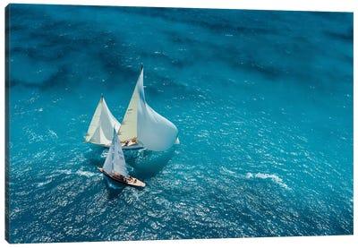Croisement Bleu Canvas Art Print