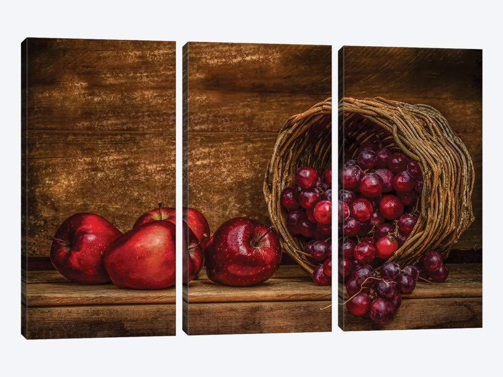 Red by Margareth Perfoncio 3-piece Canvas Print