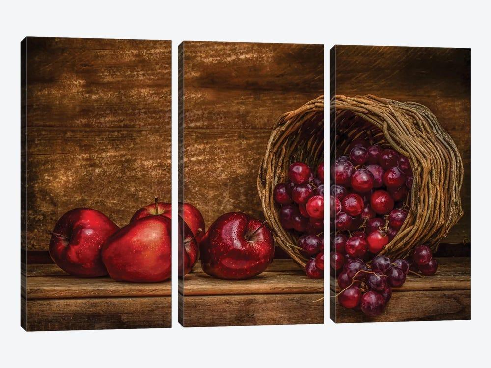 Red by Margareth Perfoncio 3-piece Canvas Print