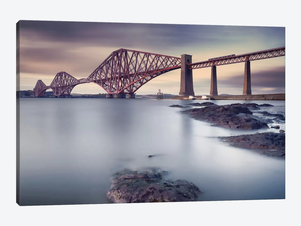 Forth Rail Bridge by Martin Vlasko 1-piece Canvas Art