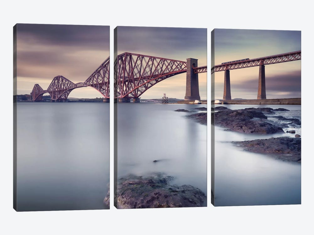 Forth Rail Bridge by Martin Vlasko 3-piece Canvas Art