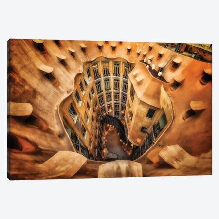 Casa Mila , La Pedrera, Barcelona, Spain Canvas Print #OXM1770} by Massimo Cuomo Canvas Artwork
