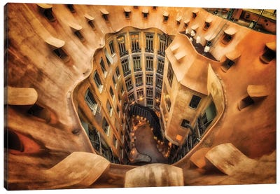 Casa Mila , La Pedrera, Barcelona, Spain Canvas Art Print