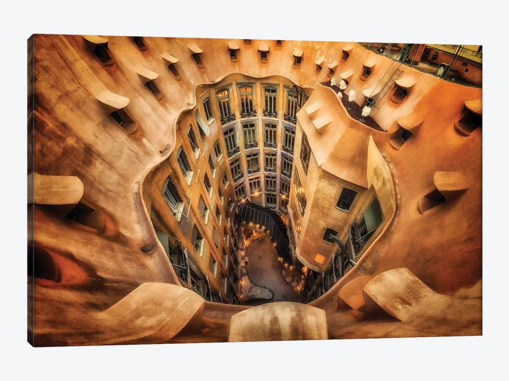 Casa Mila , La Pedrera, Barcelona, Spain 1-piece Canvas Print