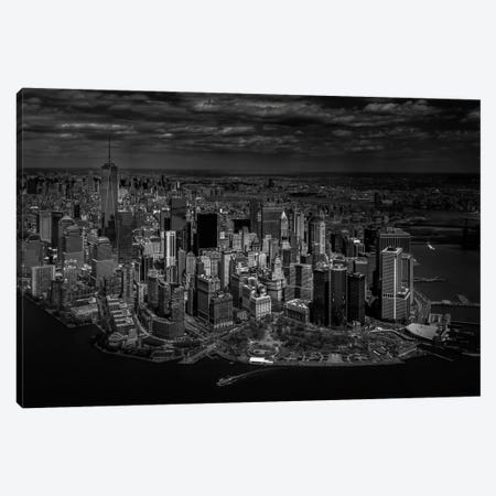A Bird's Eye View Of Manhattan Canvas Print #OXM1797} by Michael Jurek Art Print