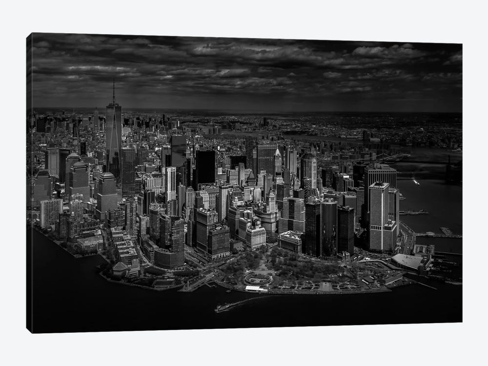 A Bird's Eye View Of Manhattan by Michael Jurek 1-piece Canvas Art