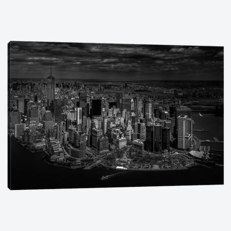 A Bird's Eye View Of Manhattan Canvas Print #OXM1797} by Michael Jurek Art Print