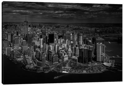 A Bird's Eye View Of Manhattan Canvas Art Print