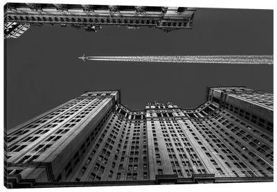 Flight Over Manhattan Canvas Art Print