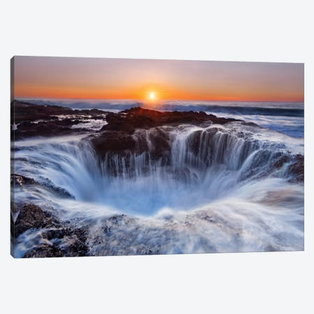 Thor's Well, Cape Perpetua, Siuslaw National Forest, Lincoln County, Oregon, USA Canvas Print #OXM1831} by Miles Morgan Art Print