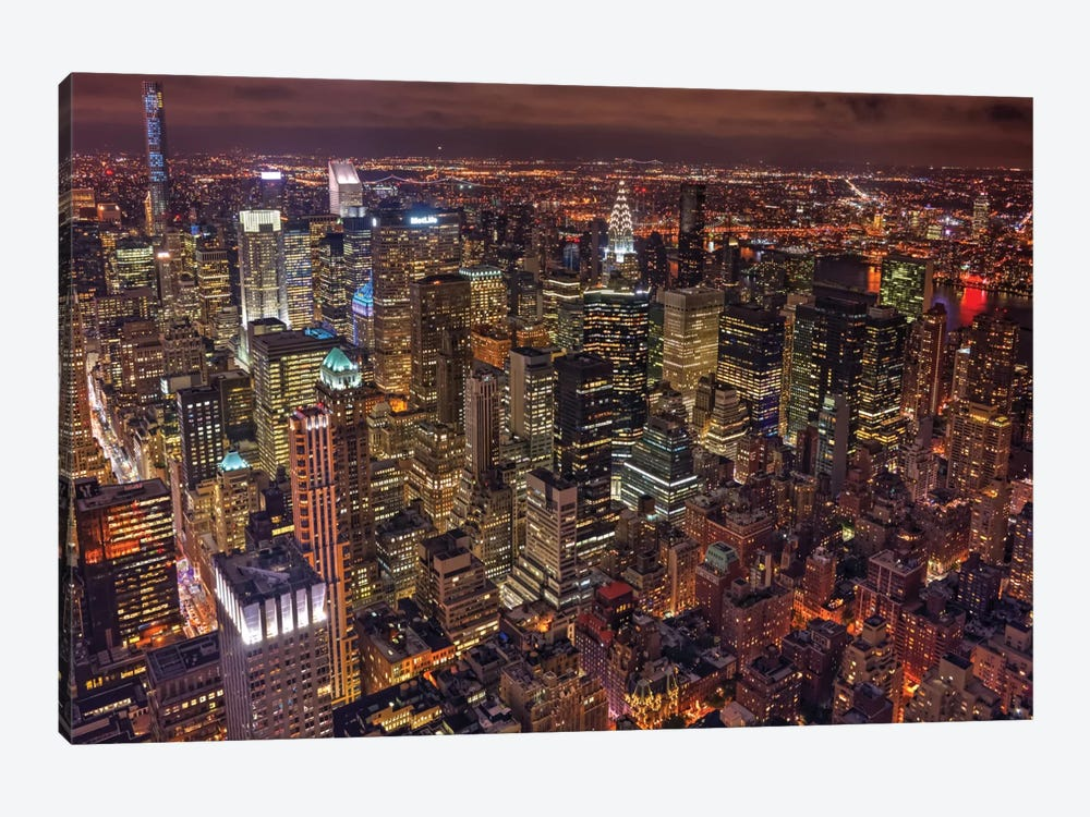 Night Life by Milton Mpounas 1-piece Canvas Print
