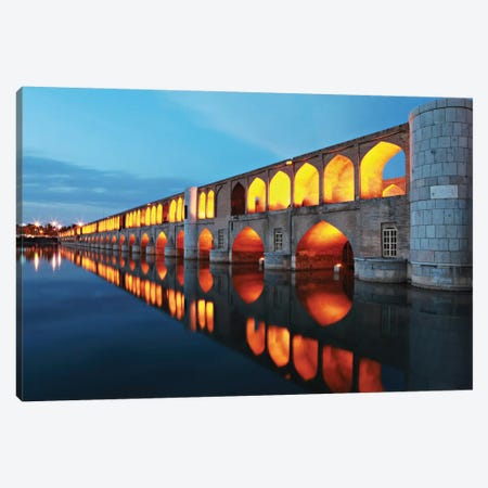 Si-o-seh pol (33 POL, The Bridge Of Thirty-Three Spans, Allahverdi Khan Bridge), Isfahan, Iran Canvas Print #OXM1850} by Mohammadreza Momeni Art Print
