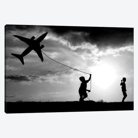 Fly My Plane Canvas Print #OXM185} by Trijoko Canvas Artwork