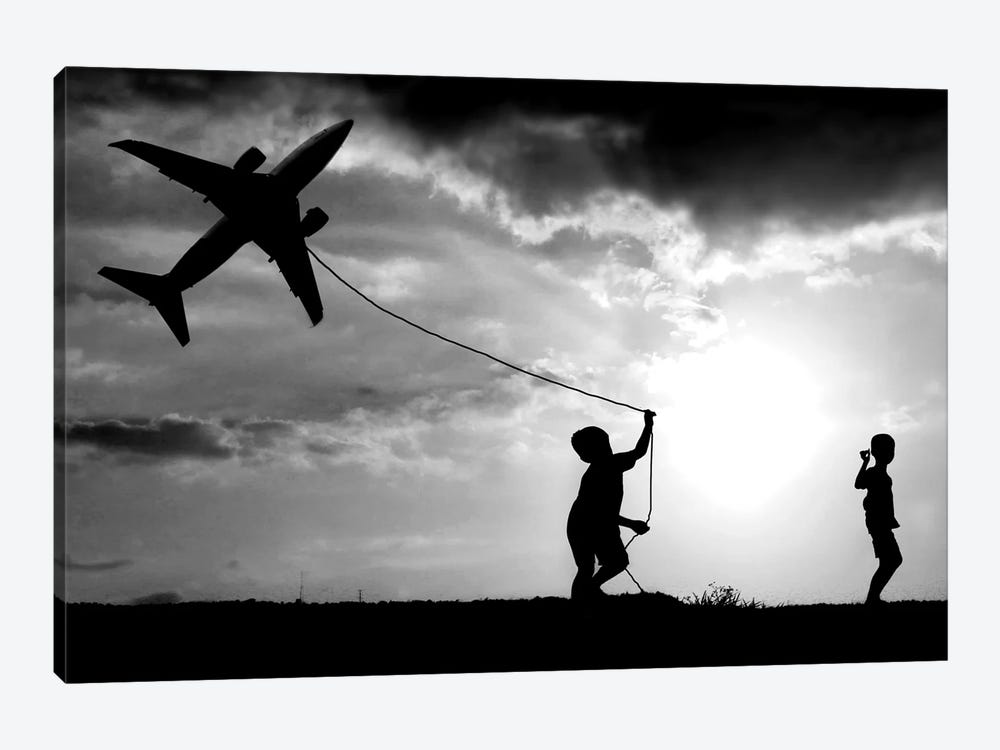 Fly My Plane by Trijoko 1-piece Canvas Print