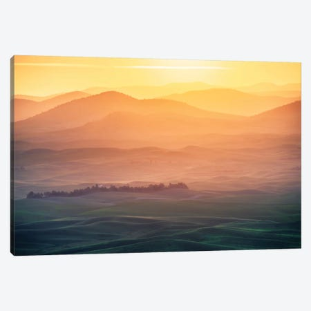 Dreamy Morning Canvas Print #OXM1873} by Naphat Chantaravisoot Art Print
