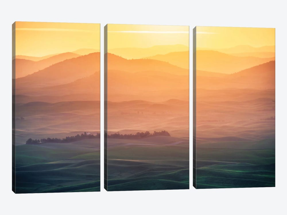 Dreamy Morning by Naphat Chantaravisoot 3-piece Canvas Art