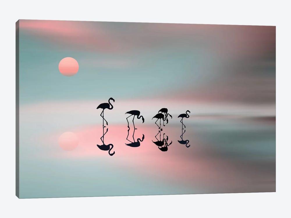 A Family Of Flamingos by Natalia Baras 1-piece Art Print