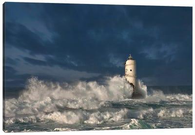 Faro di Mangiabarche (Mangiabarche Lighthouse), Calasetta, Sant'Antioco Island, Sardinia, Italy Canvas Art Print