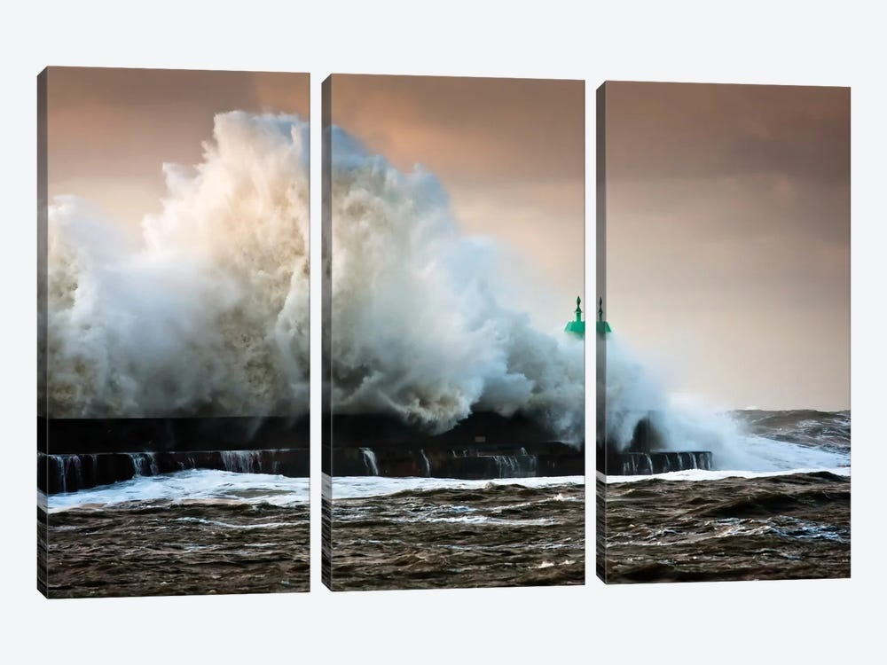 The Wall by Niels Christian Wulff 3-piece Canvas Wall Art