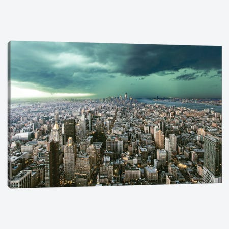 New York Under Storm Canvas Print #OXM1914} by Pagniez Art Print