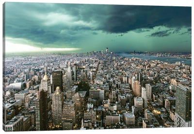 New York Under Storm Canvas Art Print