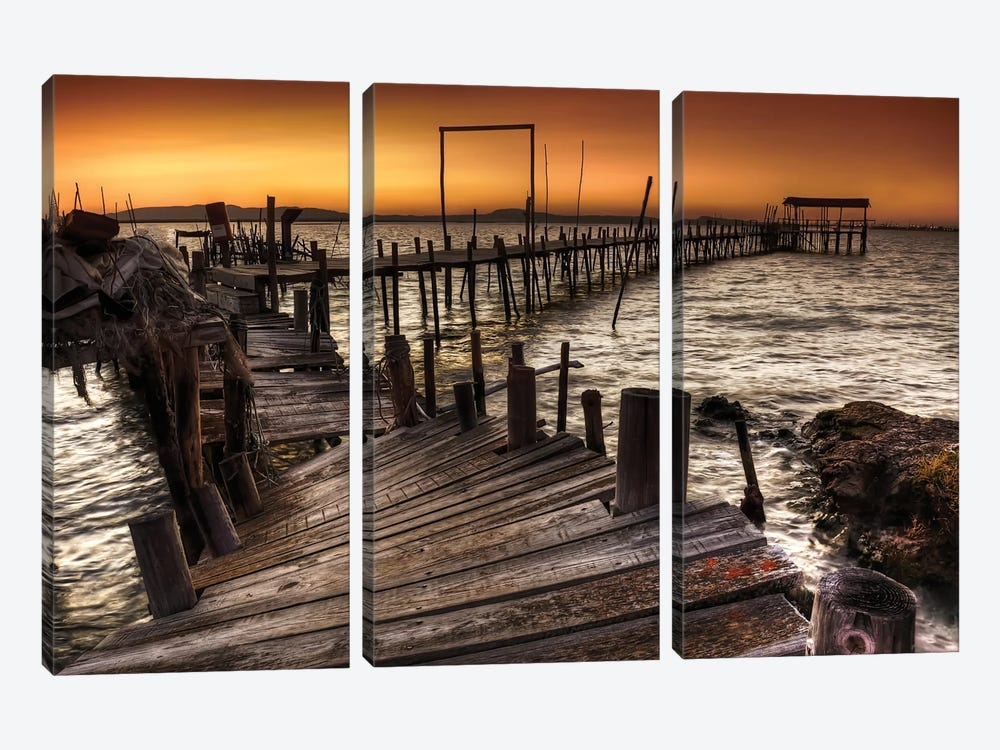Carrasqueira by Paulo Gomes 3-piece Canvas Print