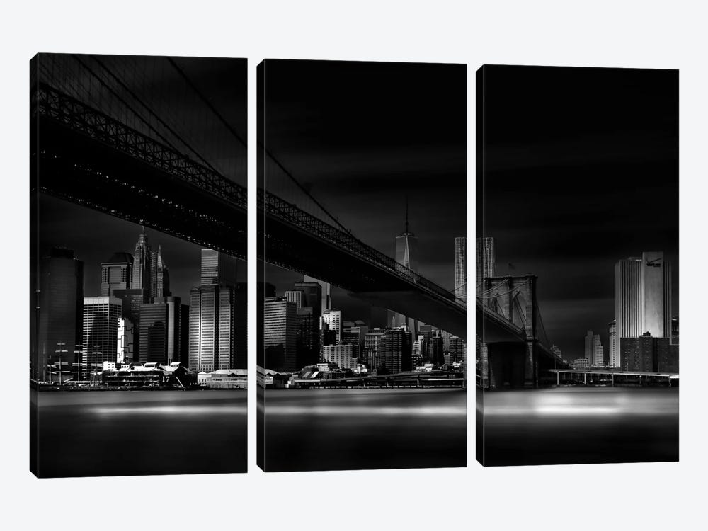 Gotham City by Peter Futo 3-piece Canvas Artwork