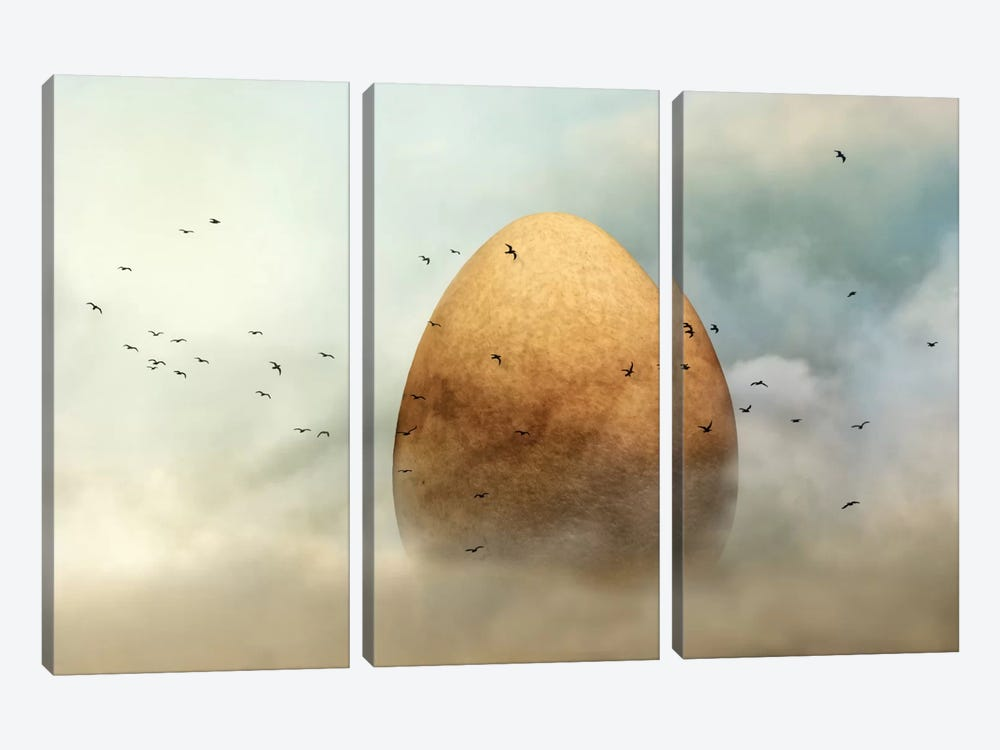 Genesis by Piet Flour 3-piece Canvas Print