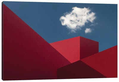 Red Shapes Canvas Art Print