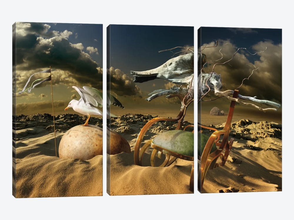 Untitled by Radoslav Penchev 3-piece Canvas Art
