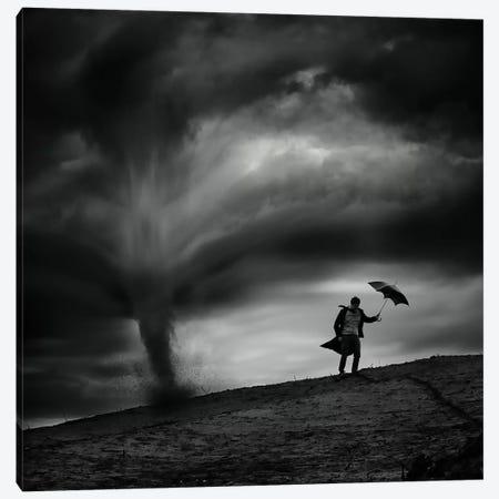 Man In The Wind Canvas Print #OXM1991} by Radovan Skohel Canvas Wall Art