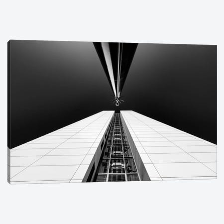 Guarding The Elevator Shaft Canvas Print #OXM199} by Michiel Hageman Canvas Art