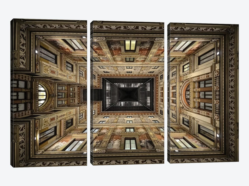 Galleria Sciarra, Rome, Lazio Region, Italy by Renate Reichert 3-piece Canvas Wall Art